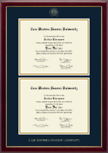 Case Western Reserve University Diploma Frame - Double Document Diploma Frame in Gallery