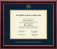 Case Western Reserve University Diploma Frame - Gold Embossed Diploma Frame in Gallery