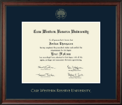 Case Western Reserve University Diploma Frame - Gold Embossed Diploma Frame in Studio