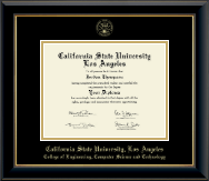 California State University Los Angeles Diploma Frame - Gold Embossed Diploma Frame in Onyx Gold