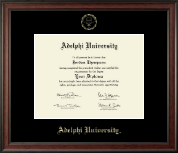 Adelphi University Diploma Frame - Gold Embossed Diploma Frame in Studio