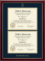 La Salle University Diploma Frame - Double Document Diploma Frame in Gallery