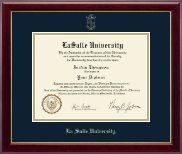 La Salle University Diploma Frame - Gold Embossed Diploma Frame in Gallery