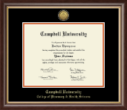 Campbell University Diploma Frame - Gold Engraved Medallion Diploma Frame in Hampshire