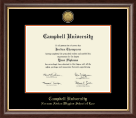Campbell University Diploma Frames For Norman Adrian