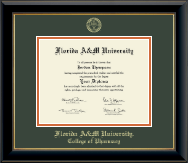 Florida A&M University Diploma Frame - Gold Embossed Diploma Frame in Onyx Gold