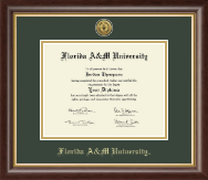 Florida A&M University Diploma Frame - Gold Engraved Medallion Diploma Frame in Hampshire