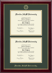 Florida A&M University Diploma Frame - Double Document Diploma Frame in Gallery