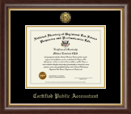 PTIN Directory Inc. Certificate Frame - Certified Public Accountant Gold Engraved Medallion Certificate Frame in Hampshire