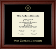 Ohio Northern University Diploma Frame - Gold Embossed Diploma Frame in Cambridge