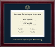 Lawrence Technological University Diploma Frame - Gold Embossed Diploma Frame in Gallery