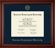 Lawrence Technological University Diploma Frame - Gold Embossed Diploma Frame in Cambridge