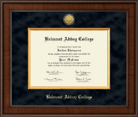 Belmont Abbey College Diploma Frame - Presidential Gold Engraved Diploma Frame in Madison