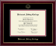 Belmont Abbey College Diploma Frame - Gold Embossed Diploma Frame in Gallery