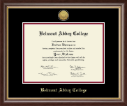 Belmont Abbey College Diploma Frame - Gold Engraved Medallion Diploma Frame in Hampshire