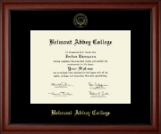 Belmont Abbey College Diploma Frame - Gold Embossed Diploma Frame in Cambridge
