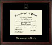 University of the Pacific Diploma Frame - Gold Embossed Diploma Frame in Studio