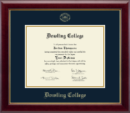 Dowling College Diploma Frame - Gold Embossed Diploma Frame in Gallery