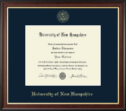 University of New Hampshire Diploma Frame - Gold Embossed Diploma Frame in Studio Gold