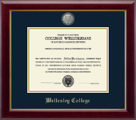 Wellesley College Diploma Frame - Masterpiece Medallion Diploma Frame in Gallery
