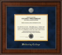 Wellesley College Diploma Frame - Presidential Masterpiece Diploma Frame in Madison
