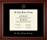 St. John Fisher College Diploma Frame - Gold Embossed Diploma Frame in Cambridge