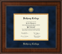Bethany College in Kansas Diploma Frame - Presidential Gold Engraved Diploma Frame in Madison