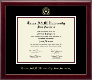 Texas A&M University at San Antonio Diploma Frame - Gold Embossed Diploma Frame in Gallery