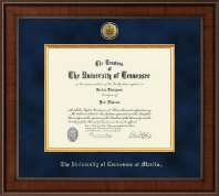 The University of Tennessee Martin Diploma Frame - Presidential Gold Engraved Diploma Frame in Madison