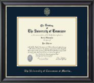 The University of Tennessee Martin Diploma Frame - Gold Embossed Diploma Frame in Noir