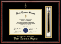 Beta Gamma Sigma Honor Society Certificate Frame - Tassel Edition Certificate Frame in Southport