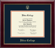 Utica College Diploma Frame - Gold Embossed Diploma Frame in Gallery