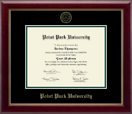 Point Park University Diploma Frame - Gold Embossed Diploma Frame in Gallery