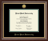 Point Park University Diploma Frame - Gold Engraved Medallion Diploma Frame in Hampshire