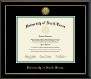University of North Texas Diploma Frame - Gold Engraved Medallion Diploma Frame in Onyx Gold