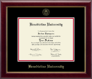 Benedictine University Diploma Frame - Gold Embossed Diploma Frame in Gallery