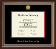Benedictine University Diploma Frame - Gold Engraved Medallion Diploma Frame in Hampshire