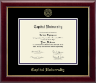 Capital University Diploma Frame - Gold Embossed Diploma Frame in Gallery