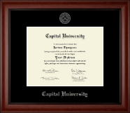 Capital University Diploma Frame - Silver Embossed Diploma Frame in Cambridge
