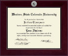 Western State Colorado University Diploma Frame - Century Silver Engraved Diploma Frame in Cordova