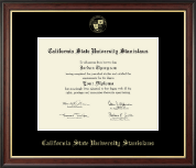 California State University Stanislaus Diploma Frame - Gold Embossed Diploma Frame in Studio Gold
