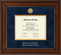 Simmons College Diploma Frame - Presidential Gold Engraved Diploma Frame in Madison