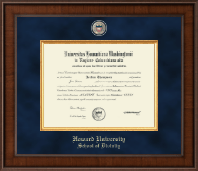 Howard University School of Law Diploma Frame - Presidential Masterpiece School of Divinity Diploma Frame in Madison