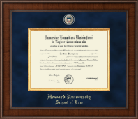 Howard University School of Law Diploma Frame - Presidential Masterpiece Diploma Frame in Madison