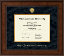 Ohio Dominican University Diploma Frame - Presidential Gold Engraved Diploma Frame in Madison