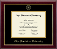 Ohio Dominican University Diploma Frame - Gold Embossed Diploma Frame in Gallery