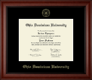 Ohio Dominican University Diploma Frame - Gold Embossed Diploma Frame in Cambridge