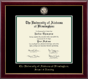 The University of Alabama at Birmingham Diploma Frame - Doctor of Nursing Practitioner- Masterpiece Medallion Diploma Frame in Gallery