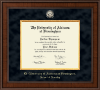 The University of Alabama at Birmingham Diploma Frame - Doctor of Nursing Practitioner- Presidential Masterpiece Diploma Frame in Madison