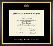 University of Houston-Clear Lake Diploma Frame - Gold Embossed Diploma Frame in Studio Gold